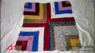 By Using Waste Clothes Sarees Handmade Doormat