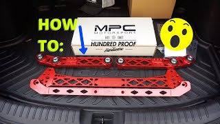 HOW TO INSTALL MPC SUBFRAME TIE BAR LCA'S! INTEGRA/CIVIC