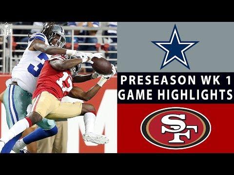 Cowboys vs. 49ers Highlights | NFL 2018 Preseason Week 1