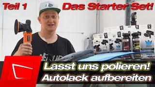 Autolack polieren - Wir arbeiten mit dem Einsteiger Poliertset - Tipps zum Set und Polieranleitung