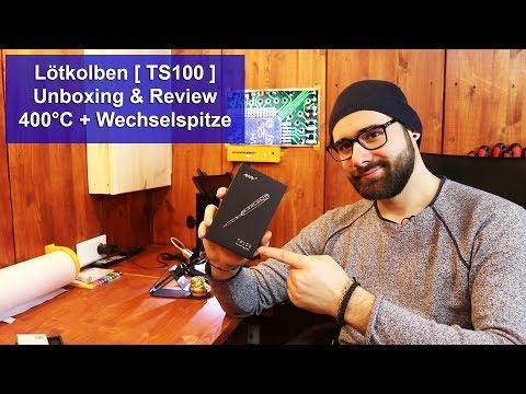 [TS100 Lötkolben] Mit Wechselspitze und Temperatur Regulierung [Unboxing] und [Review] [HD]