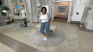 NYDJ Cool Embrace Skinny Crop with Side Slits on QVC