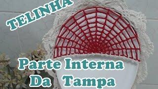 """Parte Interna Da Tampa Do Vaso """"Jogo De Banheiro Bicolor"""""""