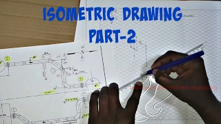 Piping   Draw Isometric Drawing from Orthographic Drawing   PART-2