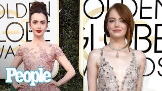 Golden Globes 2017 Fashion Emma Stone Lily Collins Tracee Ellis Ross & More  People NOW  People