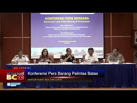 Konferensi Pers Barang Pelintas Batas