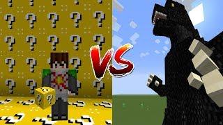 จะเกิดอะไรขึ้น?! เมื่อเปิดลัคกี้บล็อคมาปะทะกับ Godzilla!! (Minecraft Lucky Block)