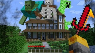 GIANT MUTATED CREATURES APPEAR IN MY MINECRAFT HOUSE !! Minecraft Mods
