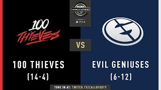 100 Thieves vs Evil Geniuses | CWL Pro League 2019 | Cross-Division | Week 11 | Day 1