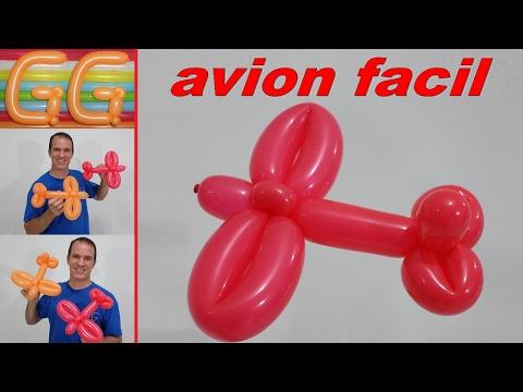 como hacer un avion con globos - globoflexia facil - figuras con globos - aviones faciles