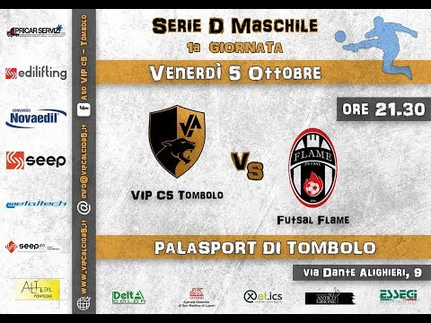 Preview video 1° GIORNATA: VIP c5 Tombolo - Futsal Flame 4-2