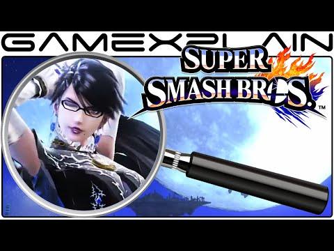 Super Smash Bros. Mini-Analysis - Bayonetta Reveal Trailer (Secrets & Hidden Details)
