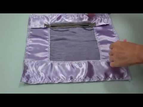 DIY Zierkissen mit Briefecken und verdecktem Reißverschluss - Lilo Siegel