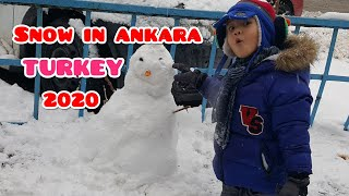 FiRST SNOW FALL iN ANKARA TURKEY 2020 l ANKARA  KAR YAĞIŞI 2020 l KAR TOPU SAVAŞI