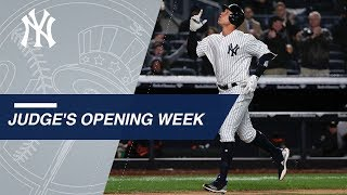 The best moments from Aaron Judge's 2018 Opening Week - Video Youtube