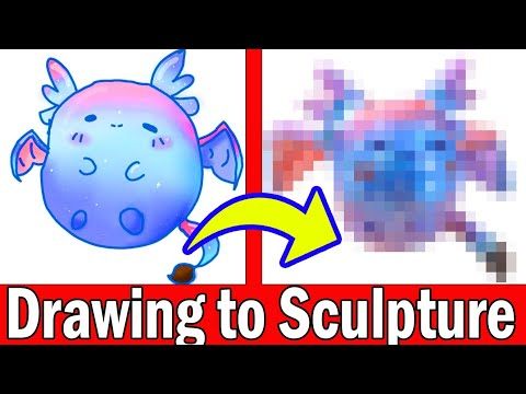 TURNING YOUR ART INTO SCULPTURE #9 Polymer Clay DIY CRAFT Art Challenge