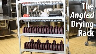 The Angled Drying Rack for Healthcare Foodservice from Cambro