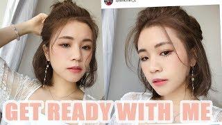 [中字]Get ready with me! summer peachy makeup look |chinchinc