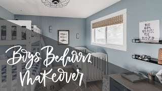 Shared Boys Bedroom Makeover | Kids Room Tour (One Room Challenge)
