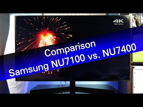 Samsung NU7100 vs NU7400 mainstream UHD TV comparison