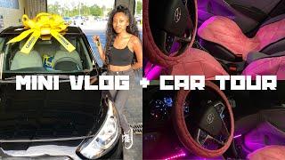 Mini Vlog + Car Tour 💕 | Decorating My First Car