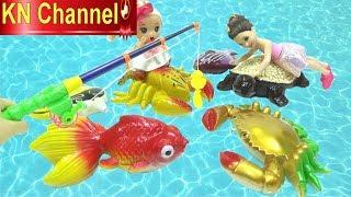 Đồ chơi trẻ em BÉ NA CÂU CÁ KHỔNG LỒ CÙNG VỚI BÚP BÊ BARBIE VUI NHỘN| KN Channel FISHING TOY