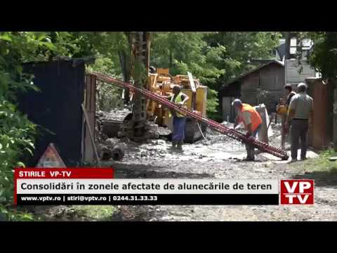 Consolidări în zonele afectate de alunecările de teren