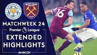 Leicester City v. West Ham   PREMIER LEAGUE HIGHLIGHTS   1/22/2020   NBC Sports