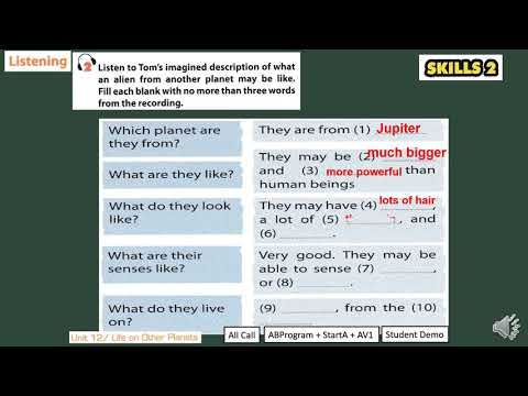 TIẾNG ANH 8 (10 NĂM) - Unit 12 Life on other Planets Lesson 6 Skills 2 Lớp 8A2