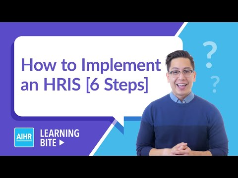 How to Implement an HRIS in 6 Steps | AIHR Learning Bite - YouTube