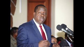 CS Matiang\'i presides over pass out parade, event at Kiganjo Police Academy