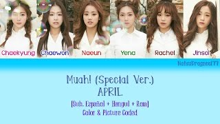 APRIL - Muah! (Special Ver.) [Sub. Español + Hangul + Rom] Color & Picture Coded