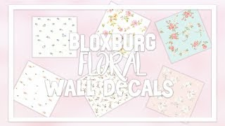 Bloxburg Wallpaper Decal ID Codes [Floral Aesthetic - Part 1]