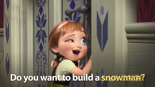 DISNEY SING-ALONGS | Do You Want To Build A Snowman? Frozen Lyric Video! | Official Disney UK