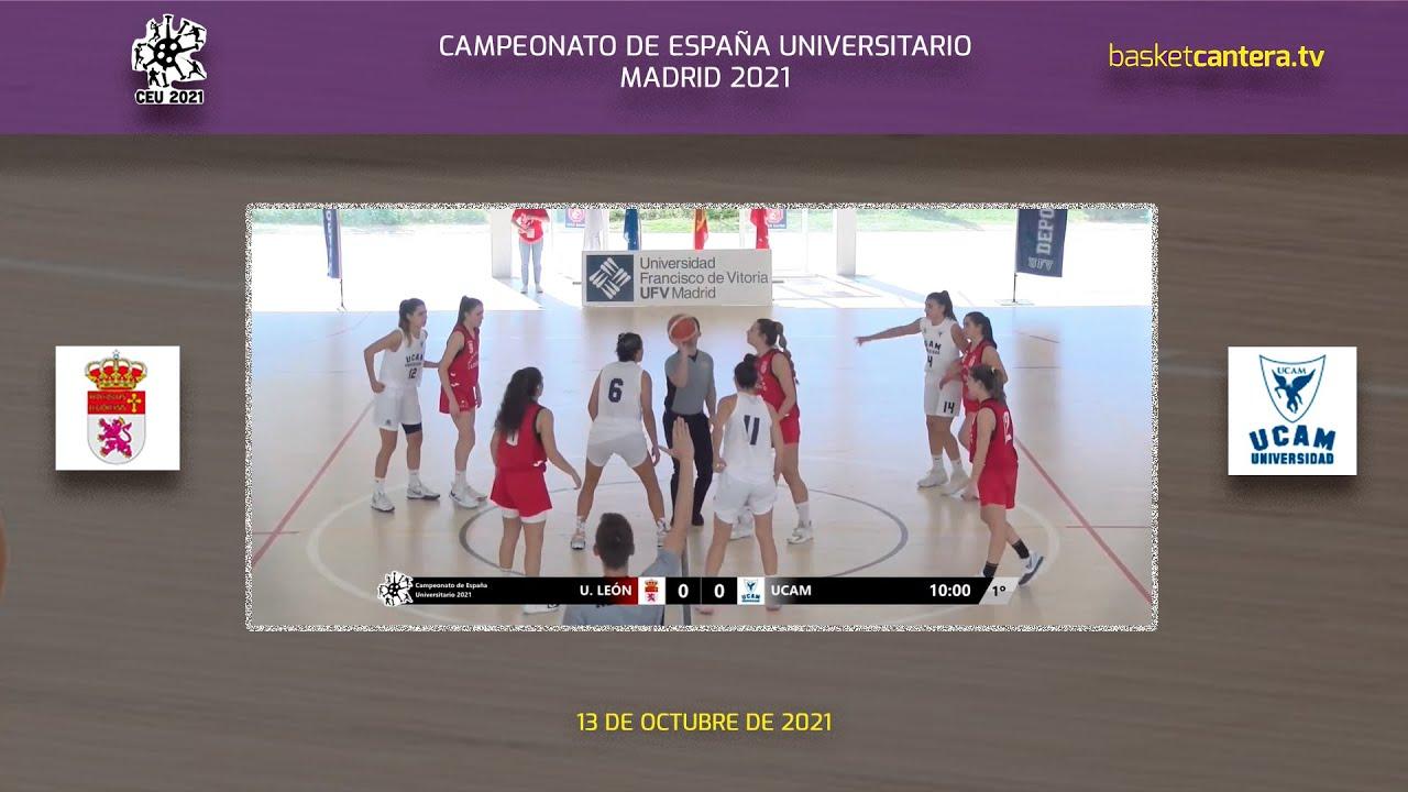 Final FEM. Campeonato de España Universitario: U. LEÓN vs UCAM Murcia (13/10/21)