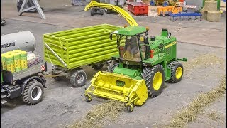 RC Tractors And A REAL WORKING John Deere Harvester Work Hard!