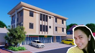 HOUSE DESIGN PLAN 18X16m 3 Storey APARTMENT 4 Unit With 2 Bedrooms FULL PLAN