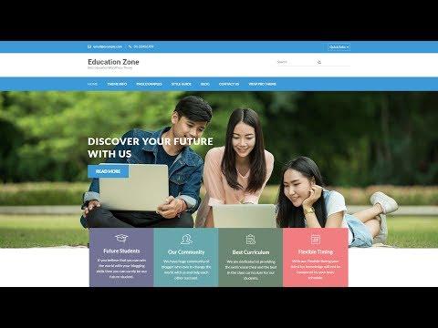 , title : 'Education Zone WordPress Theme Customization Tutorial by Rara Theme