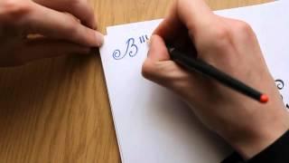 Обзор набора для каллиграфии стоимостью 3$ (пример письма)