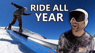 Snowboarding All Year Round in Zermatt, Switzerland