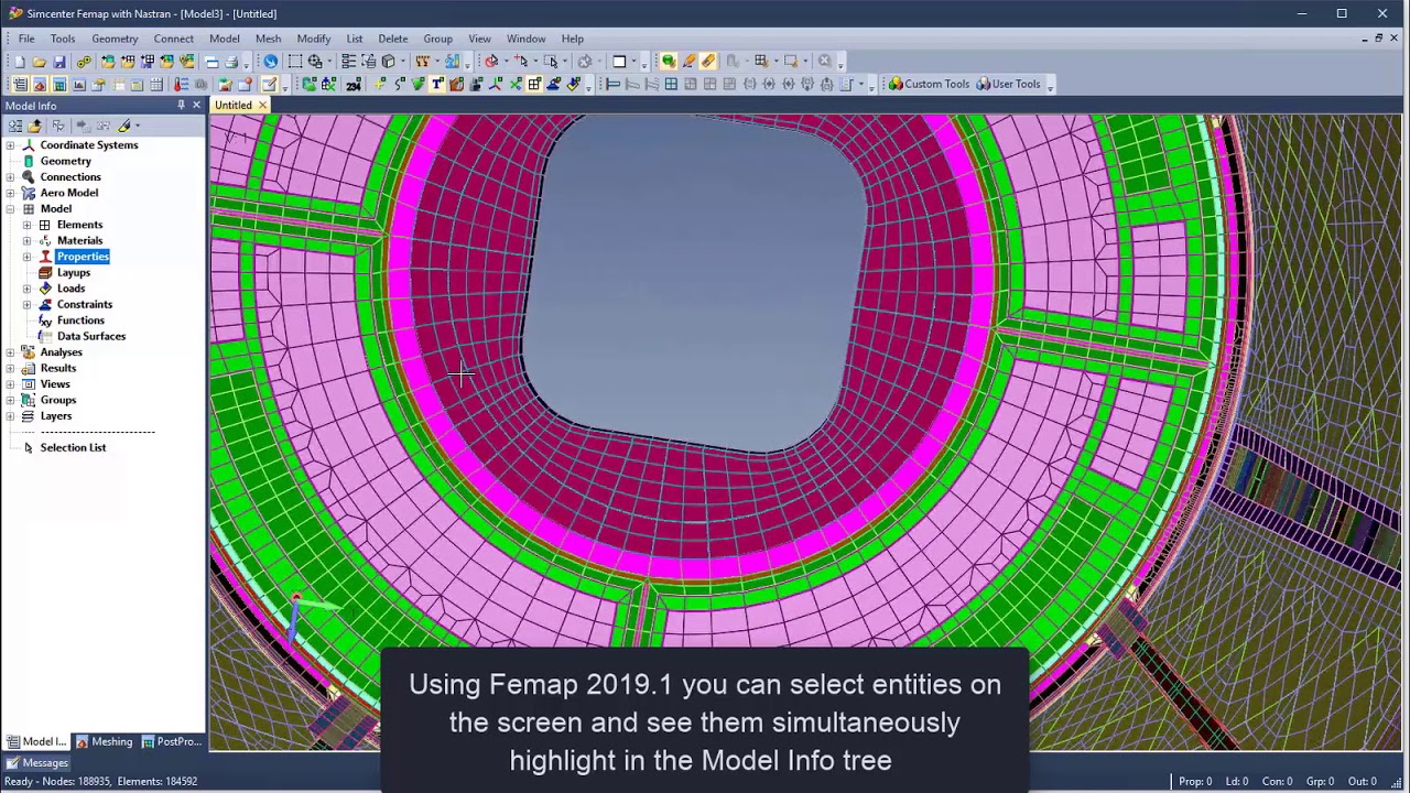 Femap 2019.1 visualization and UI enhancements