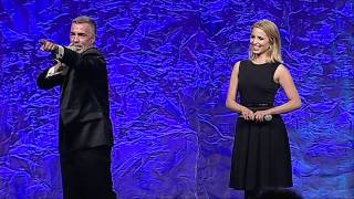Диана Агрон, Dianna Agron auctions off a kiss at the #glaadawards