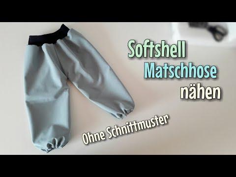 Softshell Regenhose - Nähen OHNE Schnittmuster - Anfänger - Nähtinchen