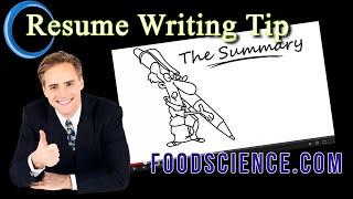 How To Write A Great Summary On Your Résumé