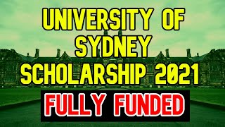 Sydney Scholarships for Bachelors & Masters 2021   Fully Funded