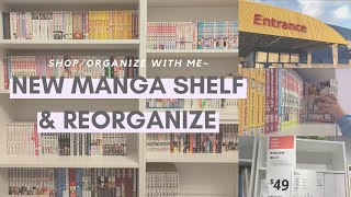 ✨manga bookshelf shopping✨ // organize with me!