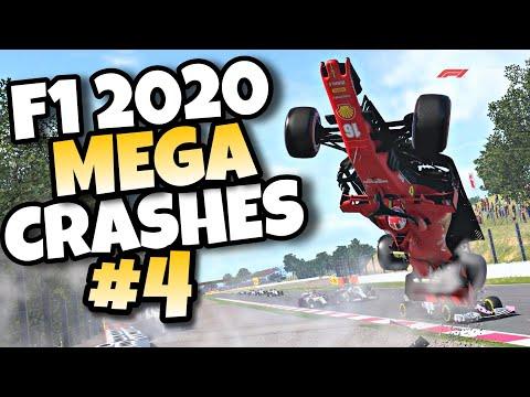 F1 2020 MEGA CRASHES #4