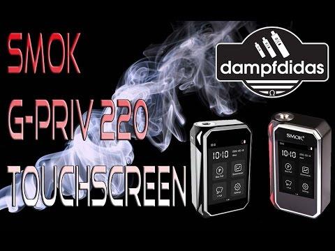 YouTube Video zu SMOK G-PRIV Touchscreen Akkuträger 220 Watt