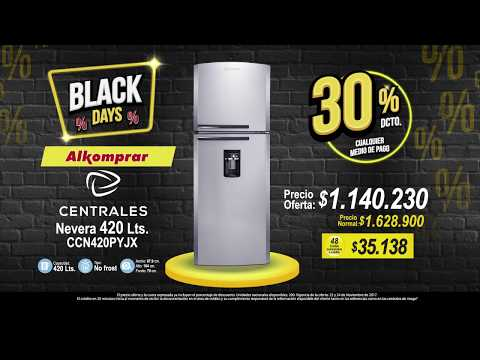 NEVERA CENTRALES 30% - Black friday 2017