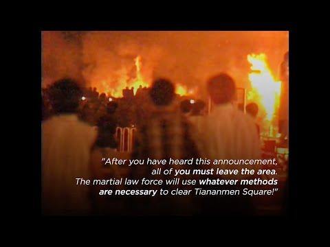 Footage of the Tiananmen Square Massacre